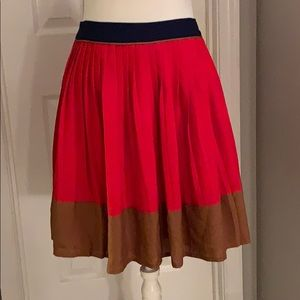 Pleated Mid length skirt by Lands' end canvas.